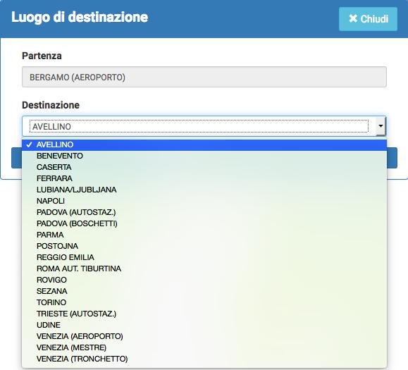 relazioni con Bergamo aeroporto
