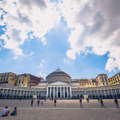 Piazza del Plebiscito, Napoli, Italia