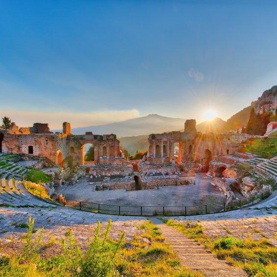 Teatro di Taormina, Messina, Sicilia, Italia