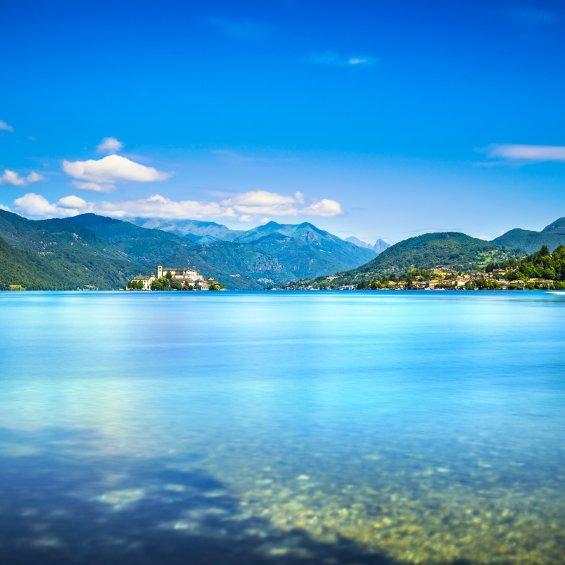 Lago d'Orta e Orta San Giulio , Novara, Piemonte, Italia
