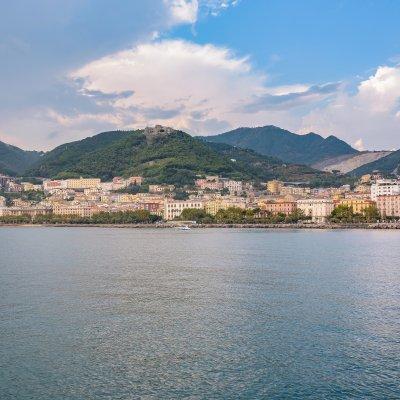Vista di Salerno, Campania, Italia