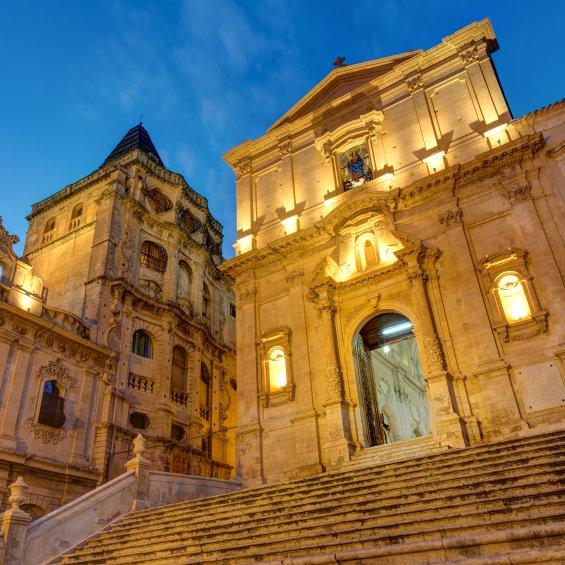 Edificio barocco a Noto, Siracusa, Italia